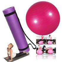 Kit Tapete Bola Fitness Yoga Pilates Fisioterapia Treino - Western