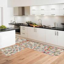 Kit Tapete de Cozinha Mini Flores - Love Decor