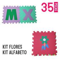 Kit tapete eva alfabeto 26 peças + flores 9 pçs - Equilíbrio Shop