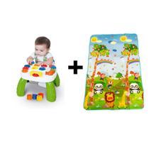 Kit Tapete Infantil 180x115 Térmico + Mesinha Educativa Bebê -