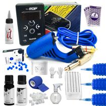 Kit Tatuagem Electra Pop Paulo Fernando + Fonte Electric ink -