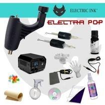Kit Tatuagem Electric Ink Máquina Electra Pop Rotativa Paulo Fernando Tattoo -