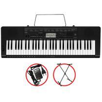 Kit Teclado Casio CTK3500 Arranjador Musical 5/8 Com Suporte -