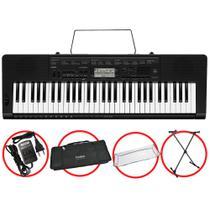 Kit Teclado Casio CTK3500 Arranjador Musical 5/8 Completo -