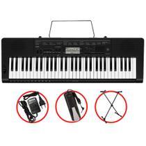 Kit Teclado Casio CTK3500 Musical 5/8 Com Suporte + Pedal -