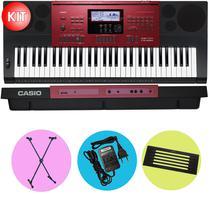 Kit Teclado Casio CTK6250 Arranjador Musical 5/8 Com Suporte -