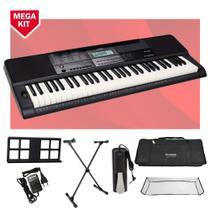 Kit Teclado Casio CTX800 USB Musical 5/8 Completo com Pedal -