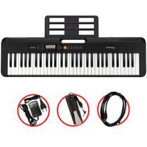 Kit Teclado Casio Tone CT-S200 BK Musical 61 Teclas Preto Com Cabo USB e Pedal Sustain -
