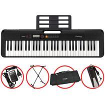 Kit Teclado Casio Tone CTS200 BK Musical 61 Teclas + Pedal -