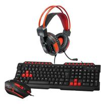 Kit Teclado E Mouse C3tech Gamer Series Gk-20 Usb e Fone Headset Gamer Hayom HF2207 - Hp