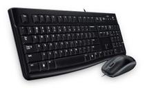 Kit Teclado e Mouse com Fio USB Logitech Mk120 -