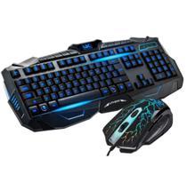 Kit Teclado E Mouse Gamer B-max V-100 Luz Colorida -