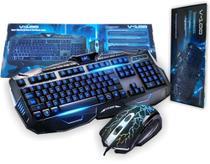 Kit Teclado e Mouse Gamer com fio V-100 - BMAX -