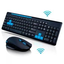 Kit Teclado E Mouse Gamer Sem Fio 1600dpi Wireless 10 Mt 2.4 - Infokit