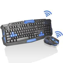 Kit Teclado E Mouse Gamer Sem Fio Wireless 2.4ghz 3200dpi - HK8100 - B Max