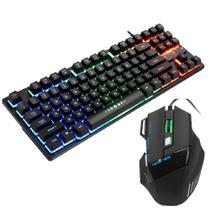 kit teclado e mouse Gamer semi mecânico 3020 DPI Slim - Aoas