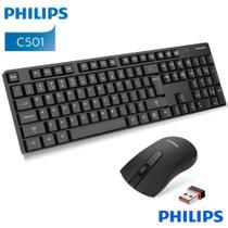 Kit Teclado e Mouse Sem Fio Philips 2.4G Wireless - C501