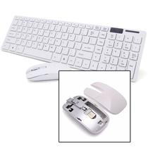 Kit Teclado e Mouse Sem fio Wifi Usb 1600Dpi 2.4Ghz Smart PC - Wlxy