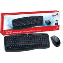 Kit Teclado e Mouse Wireless Genius 31340005113 KB-8000X USB  2.4 GHZ Preto 1200DPI