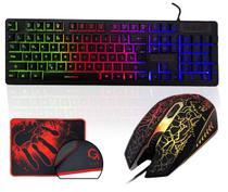 Kit Teclado Gamer Semi Mecânico Mouse Led Luminoso Mouse Pad - Giant Innovation