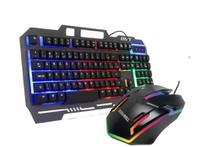 Kit Teclado Metal Mouse Gamer Computador Usb Abnt2 Led Rgb - DURAWELL