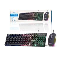 Kit teclado mouse gamer computador usb abnt2 led pto bk-g550 - EXBOM