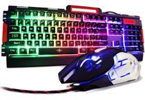 Kit Teclado + Mouse Gamer Exbom Bk-g3000 Semi-mecânico Metal -