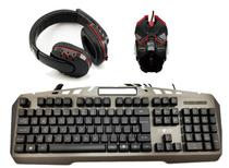 Kit Teclado Mouse Headset Gamer USB Iluminado Inova* - Nota 10