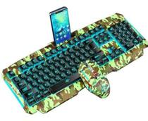 Kit Teclado Mouse Led Gamer Camuflado Suporte Smartphone - Xtrad -