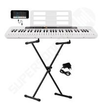 Kit Teclado Musical CASIOTONE CT S200 CASIO Branco Aplicativo Chordana Play + Suporte X -