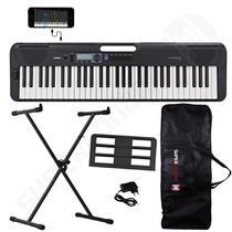 Kit Teclado Musical CASIOTONE CT-S300 Preto APP Chordana Play + Suporte X + Capa -