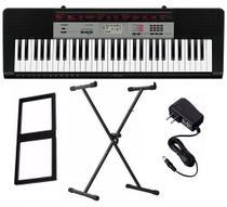 Kit Teclado Musical CTK-1500 Casio + Fonte + Bolsa+ Suporte -