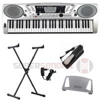 Kit Teclado Musical Michael KAM500 61 Teclas Sensitivas + Suporte em X + Pedal + Fonte -