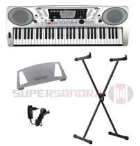Kit Teclado Musical Michael KAM500 61 Teclas Sensitivas + Suporte X + Fonte -
