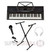 Kit Teclado Musical UltimateKeys UK540 Waldman 54 Teclas + Fone + Microfone + Fonte Bivolt -