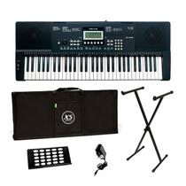 Kit teclado revas by roland kb-330 com estante fonte bag  e apoio de partitura -