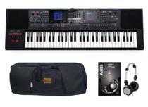 Kit Teclado Roland E-A7 Com Capa e Fone K414 -