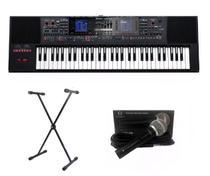 Kit Teclado Roland E-A7 Com Suporte e Microfone Regent -