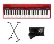 Kit Teclado Roland GO KEYS GO61K Com Suporte e Microfone -