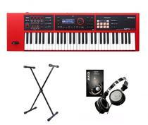 Kit Teclado Roland XPS30 RD com Suporte e Fone K414 -