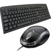 Kit teclado usb + mouse usb básico standart com fio - Oem