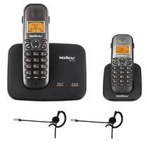 Kit Telefone 2 Linhas Ts 5150 + 1 Ramal Ts 5121 + 2 fones HC 10 Intelbras -
