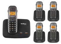 Kit Telefone 2 Linhas Ts 5150 + 4 Ramais Ts 5121 Intelbras -