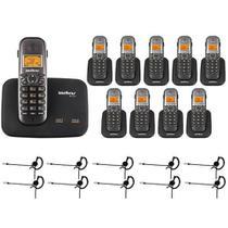 Kit Telefone 2 Linhas Ts 5150 + 9 Ramais Ts 5121 + 10 fones HC 10 Intelbras -