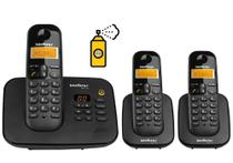 Kit Telefone Fixo sem fio Com Secretaria Eletronica 2 Ramal - Intelbras