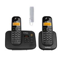 Kit Telefone Fixo sem fio Com Secretaria eletronica + Ramal - Intelbras