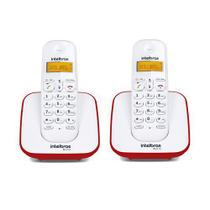 Kit Telefone Sem Fio + 1 Ramal Branco e Vermelho TS 3110 - Intelbras -
