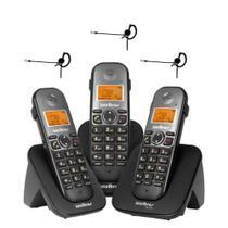 Kit Telefone sem fio  2 ramais TS 5123 Com 3 Fones Intelbras -