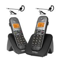 Kit Telefone sem fio com ramal TS 5122 Com 2 Fones Intelbras -