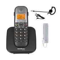 Kit Telefone sem fio TS 5120 Com Bina Fone Ouvido Intelbras -